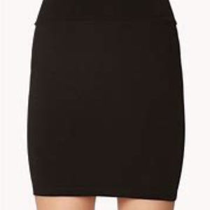Bebe Pencil Skirt Black Thick Slimming Bodycon 6